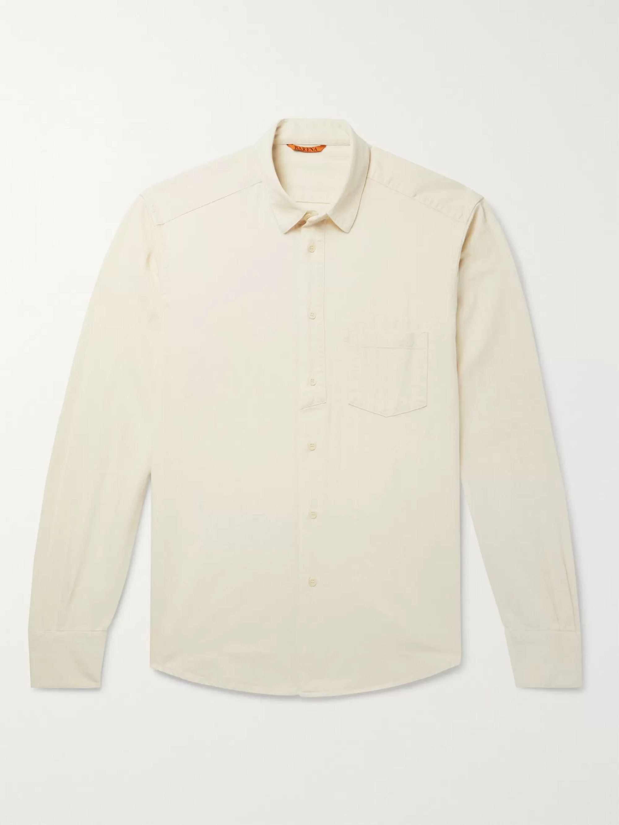 Barena Slim-Fit Herringbone Cotton Shirt