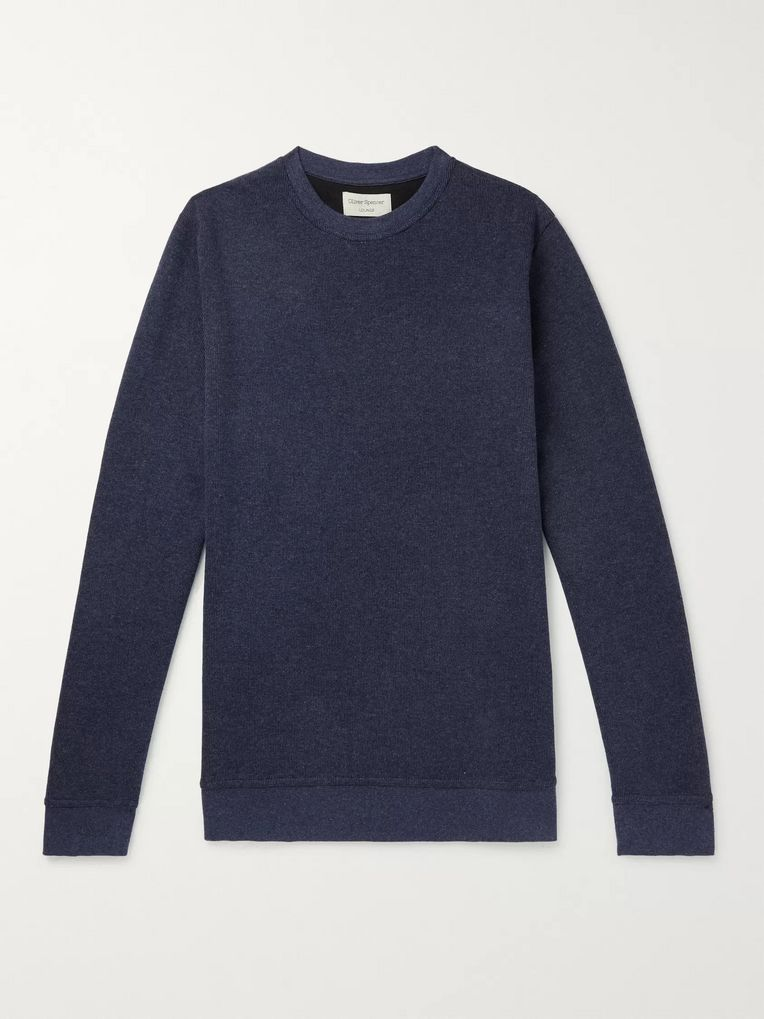 Oliver Spencer Loungewear Ribbed Cotton-Jersey Sweatshirt