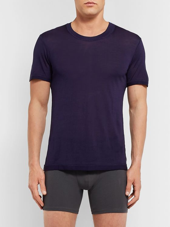 Secondskin Slim-Fit Silk T-Shirt
