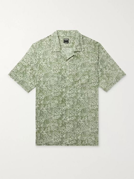 Todd Snyder + Liberty London Camp-Collar Printed Cotton-Poplin Shirt