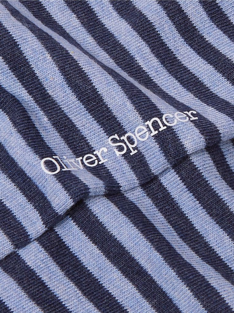 Oliver Spencer Loungewear Heneghan Striped Stretch Cotton-Blend Socks