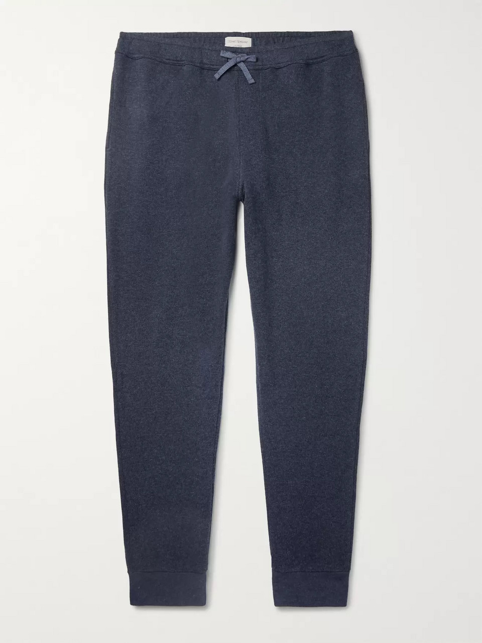 Oliver Spencer Loungewear Ribbed Cotton-Jersey Sweatpants