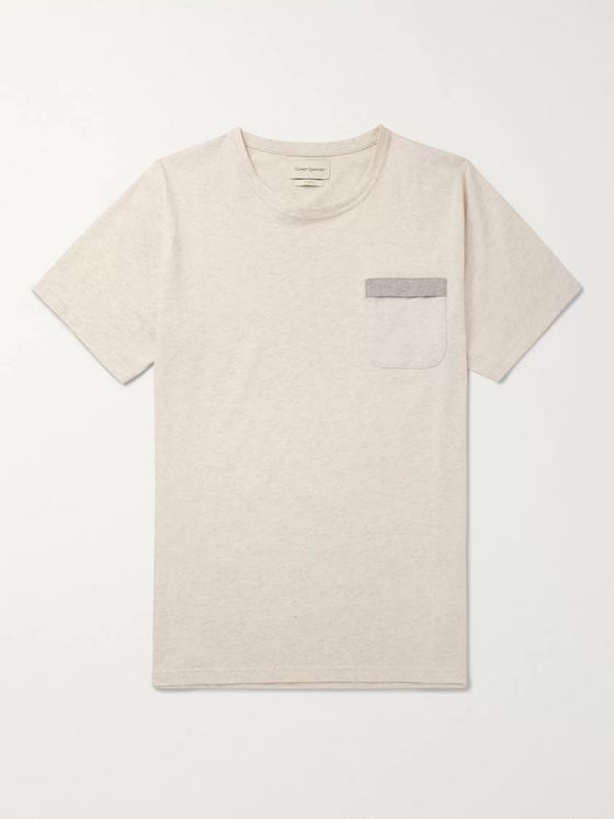 Oliver Spencer Mélange Organic Cotton-Jersey T-Shirt