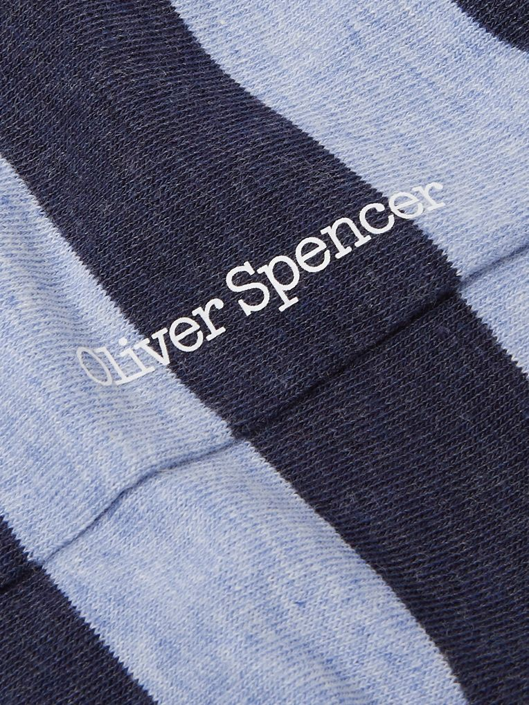 Oliver Spencer Loungewear Lee Striped Stretch Cotton-Blend Socks