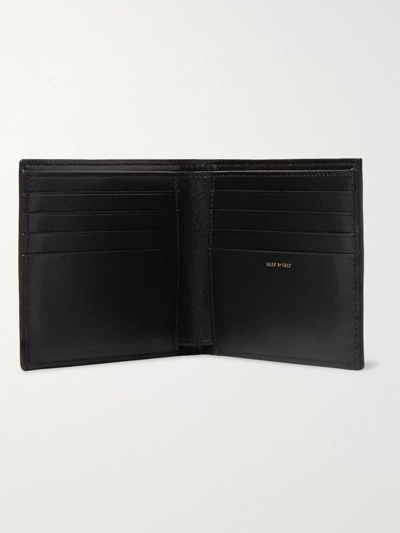 Paul Smith Camouflage-Print Cross-Grain Leather Billfold Wallet