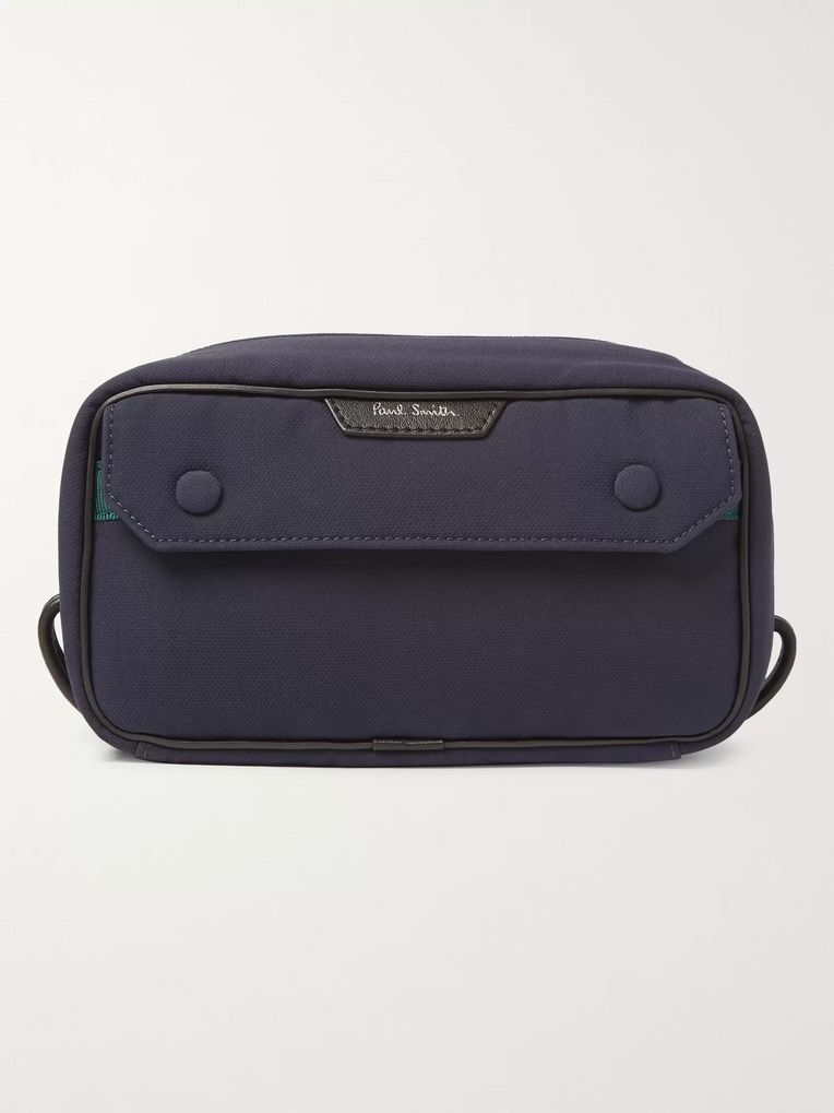 Paul Smith Leather-Trimmed Shell Wash Bag