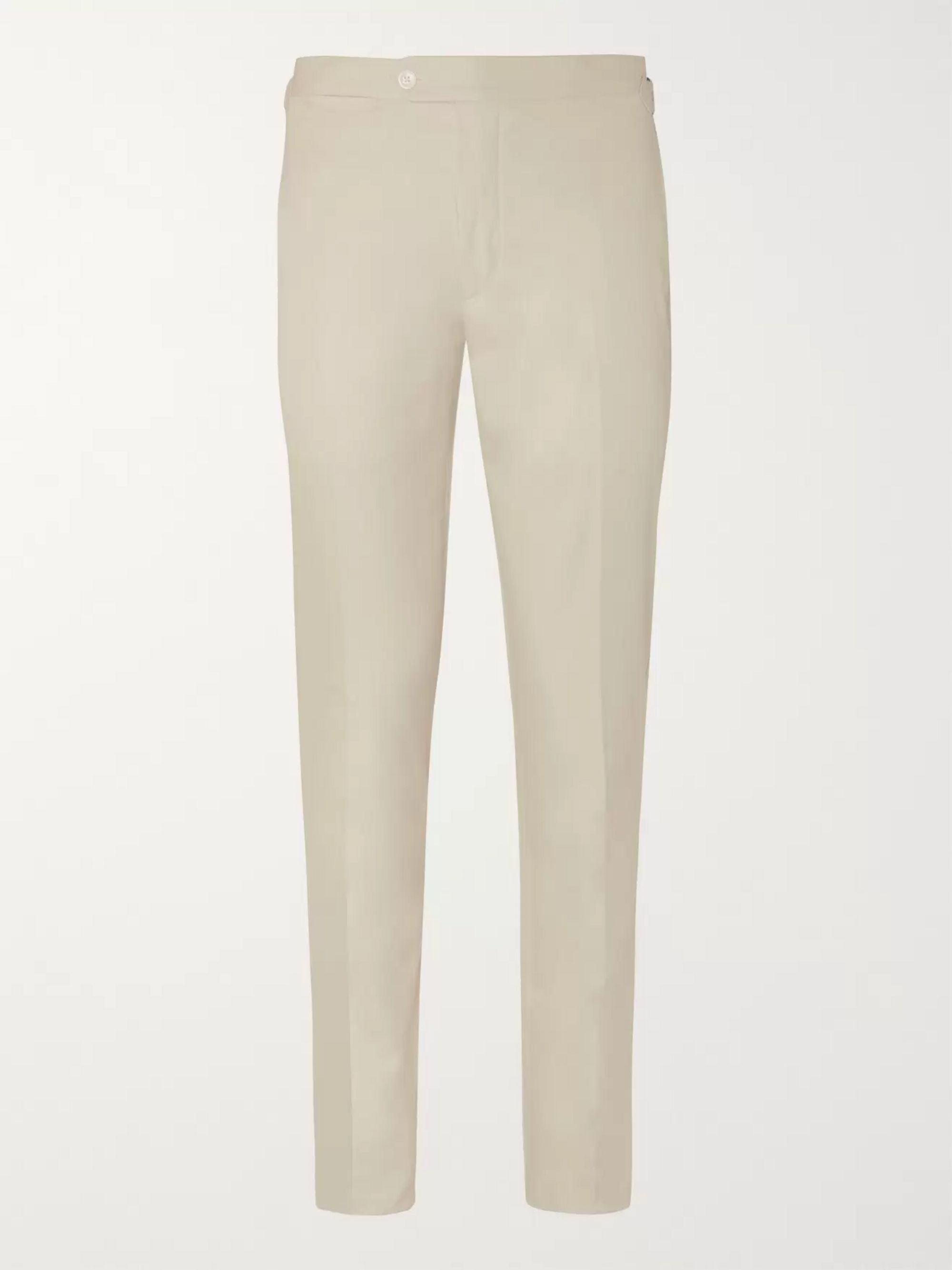 Thom Sweeney Slim-Fit Cotton-Gabardine Trousers