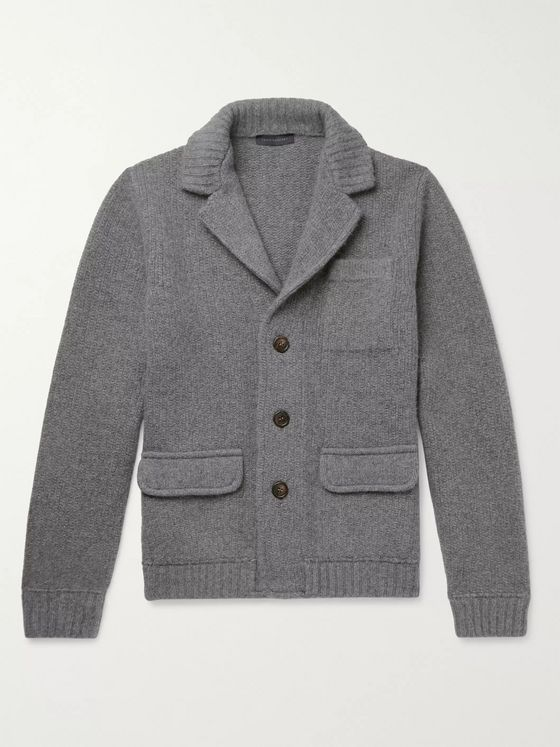 Thom Sweeney Slim-Fit Wool and Cashmere-Blend Cardigan