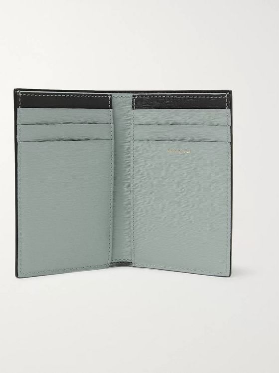 Paul Smith Colour-Block Textured-Leather Bifold Cardholder