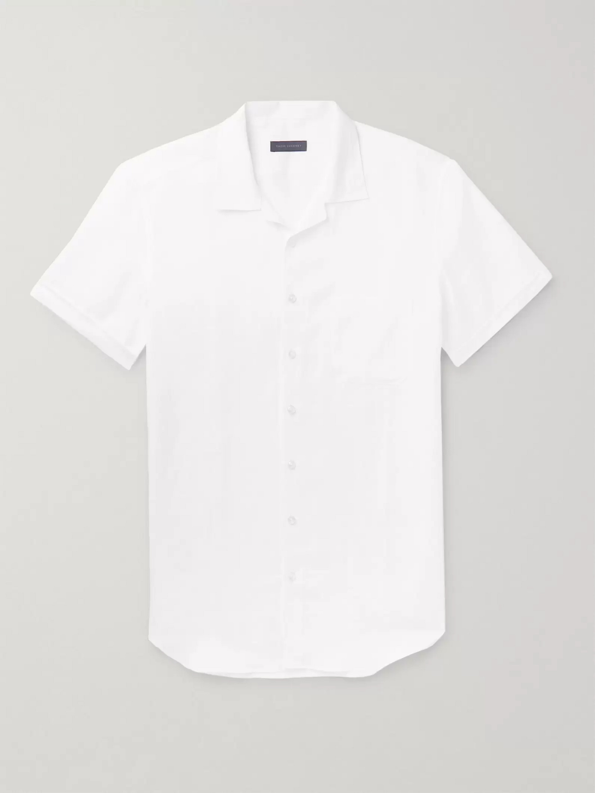 Thom Sweeney Camp-Collar Linen Shirt