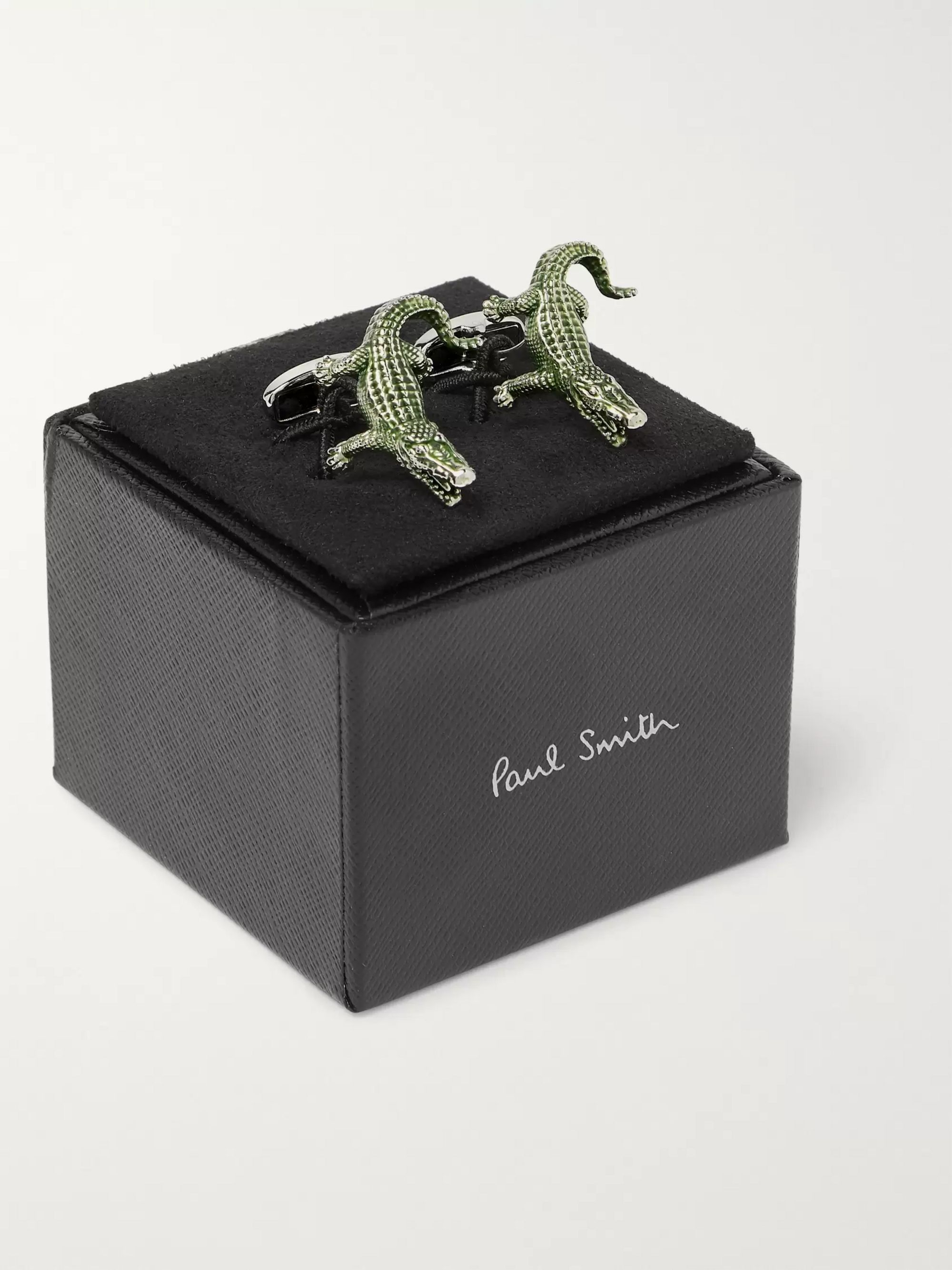 Paul Smith Silver-Tone and Enamel Cufflinks