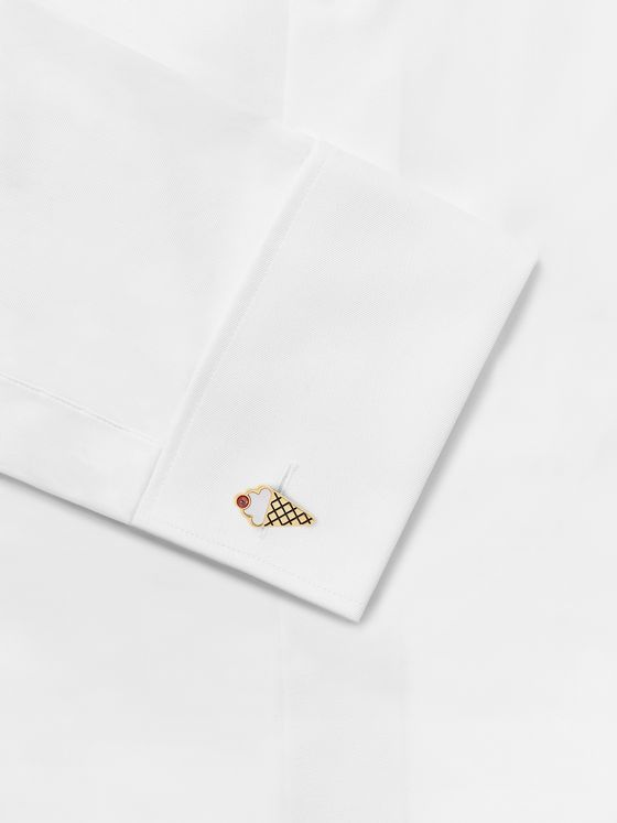 PAUL SMITH Gold-Tone, Enamel and Mother-of-Pearl Cufflinks