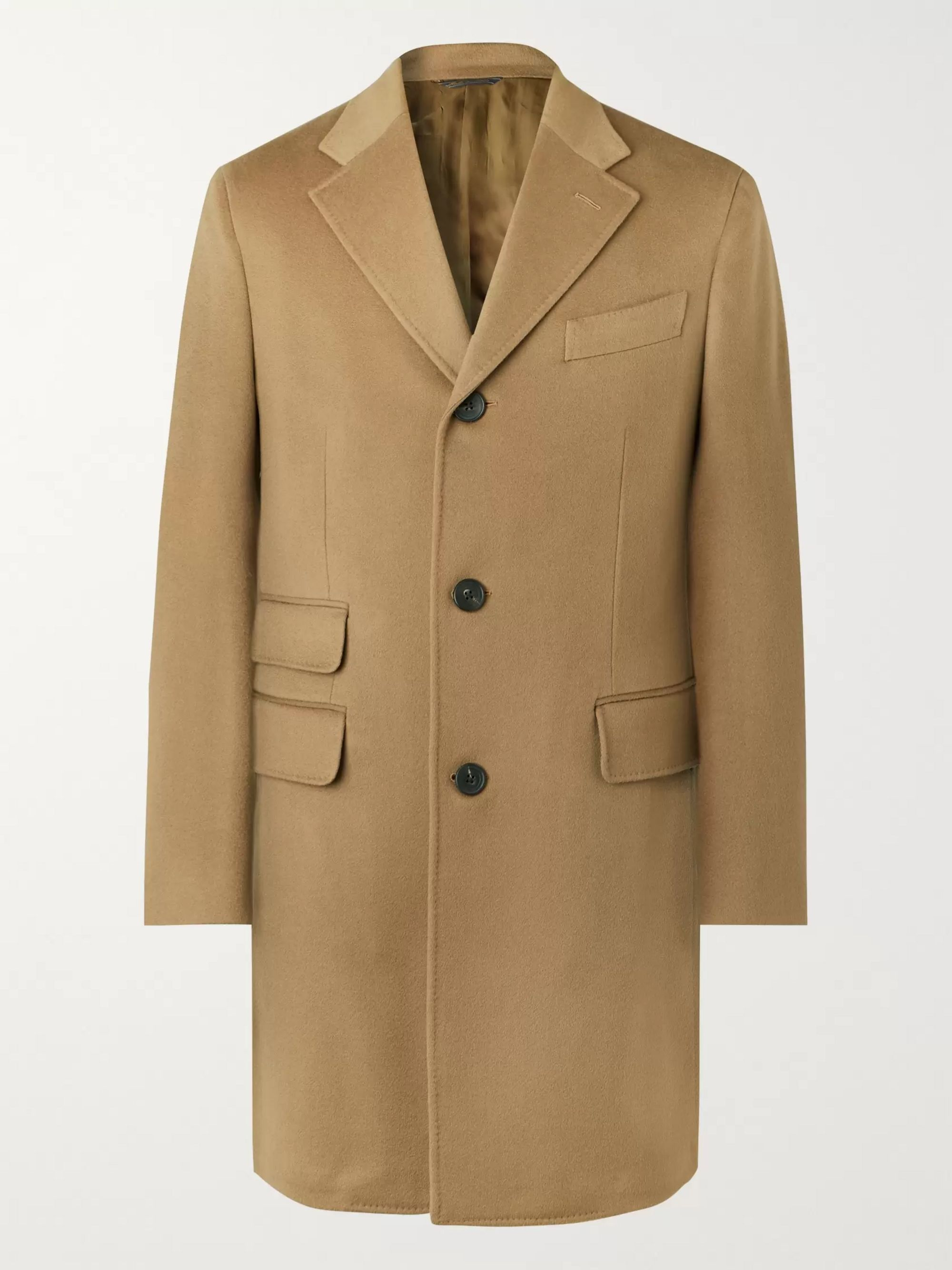 Thom Sweeney Slim-Fit Wool and Cashmere-Blend Overcoat