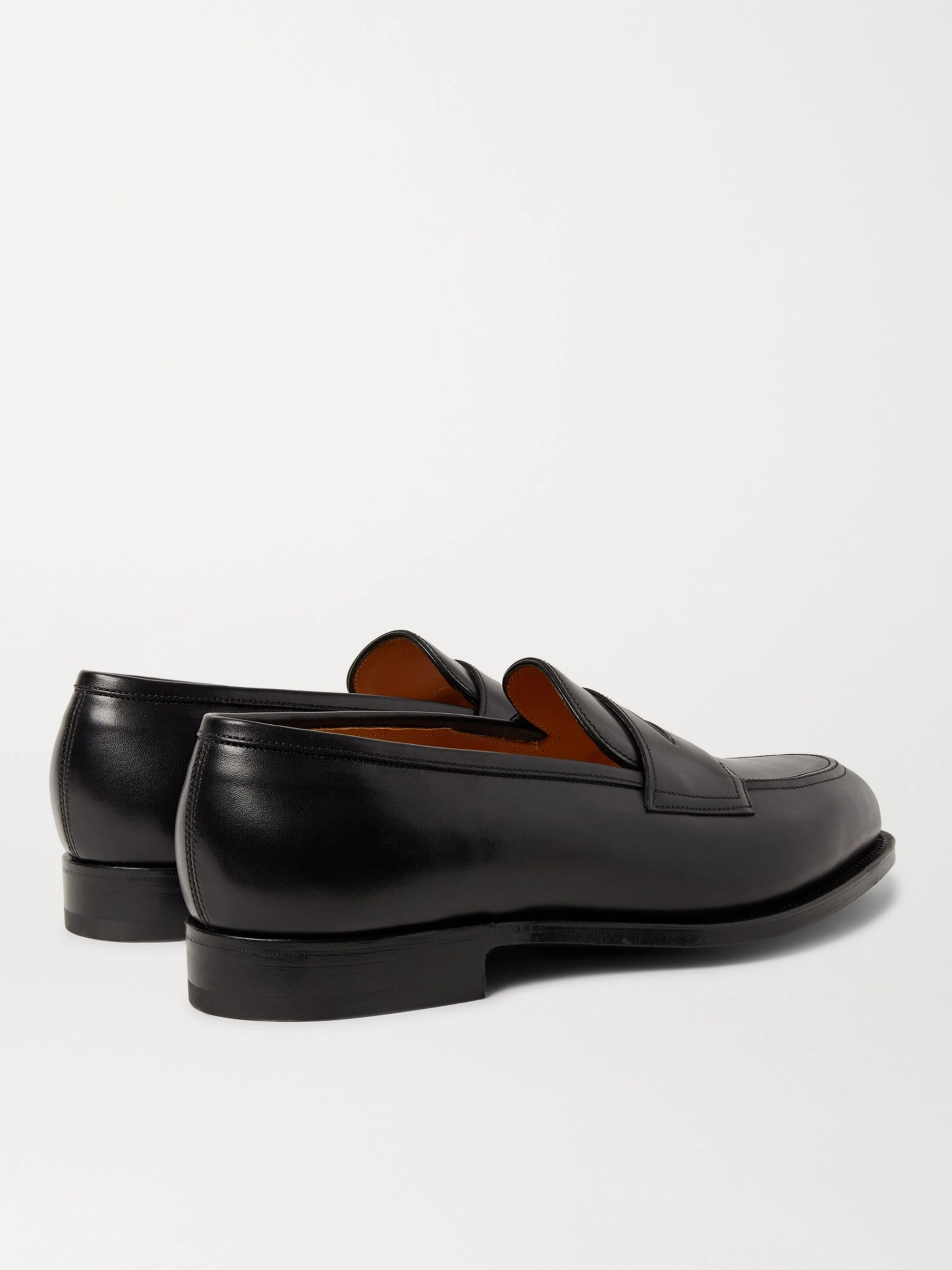 EDWARD GREEN Piccadilly Leather-Trimmed Suede Penny Loafers