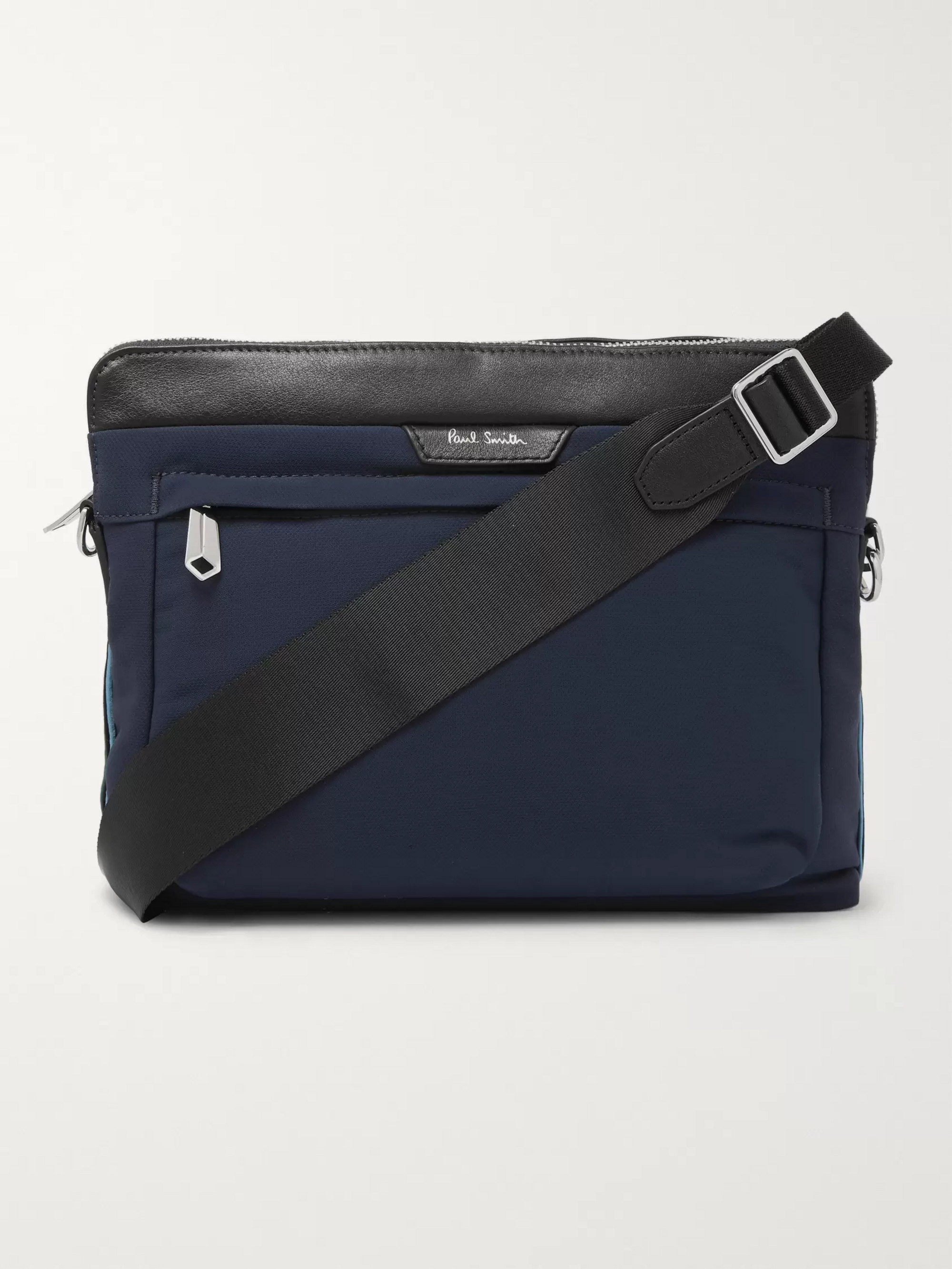 Paul Smith Leather-Trimmed Canvas Messenger Bag