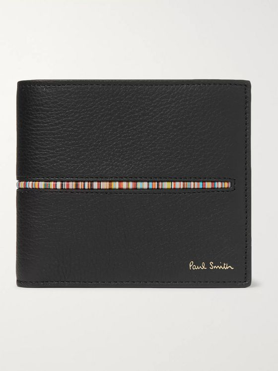 Paul Smith Stripe-Trimmed Full-Grain Leather Billfold Wallet