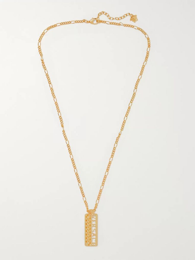 Versace Logo Gold-Tone Necklace
