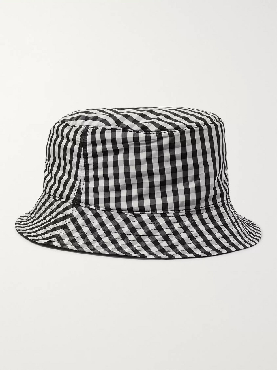 Sandro Reversible Gingham Shell Bucket Hat