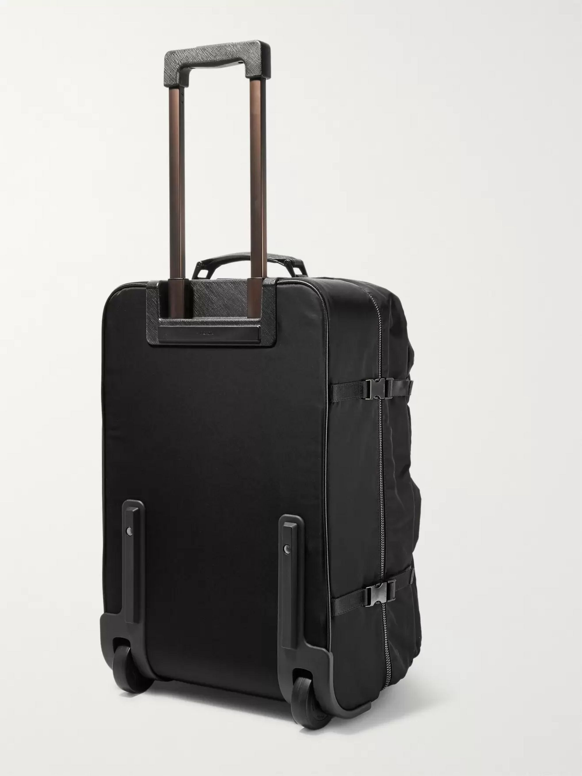 Prada Saffiano Leather-Trimmed Nylon Carry-On Suitcase
