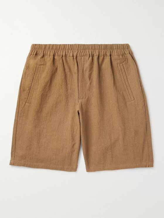 Folk Linen And Cotton-Blend Drawstring Shorts