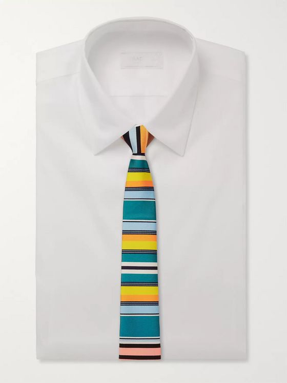 Prada 6.5cm Striped Silk-Twill Tie