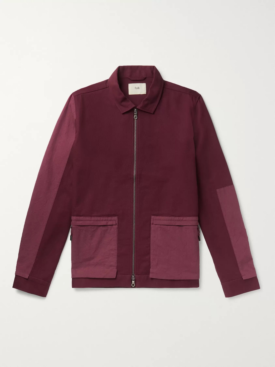 Folk Panelled Cotton-Twill Chore Jacket