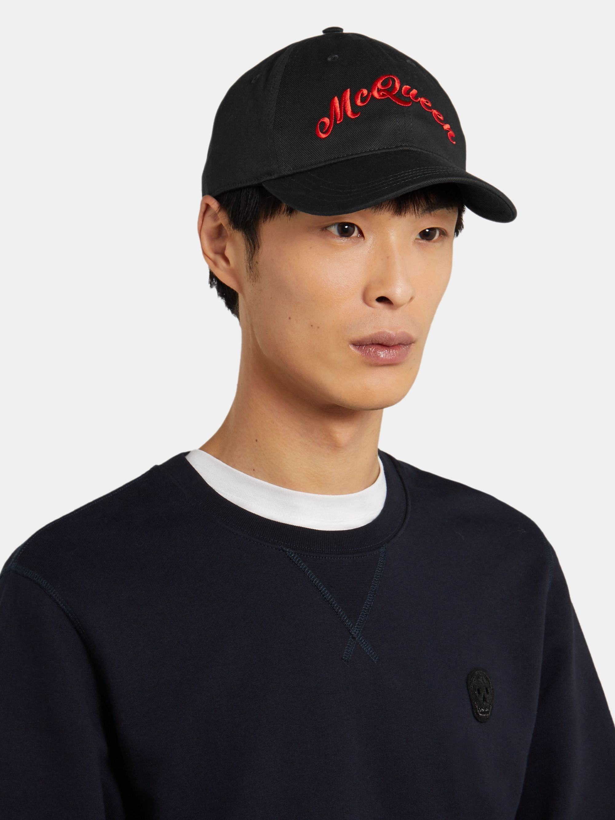 Alexander McQueen Logo-Embroidered Cotton-Twill Baseball Cap