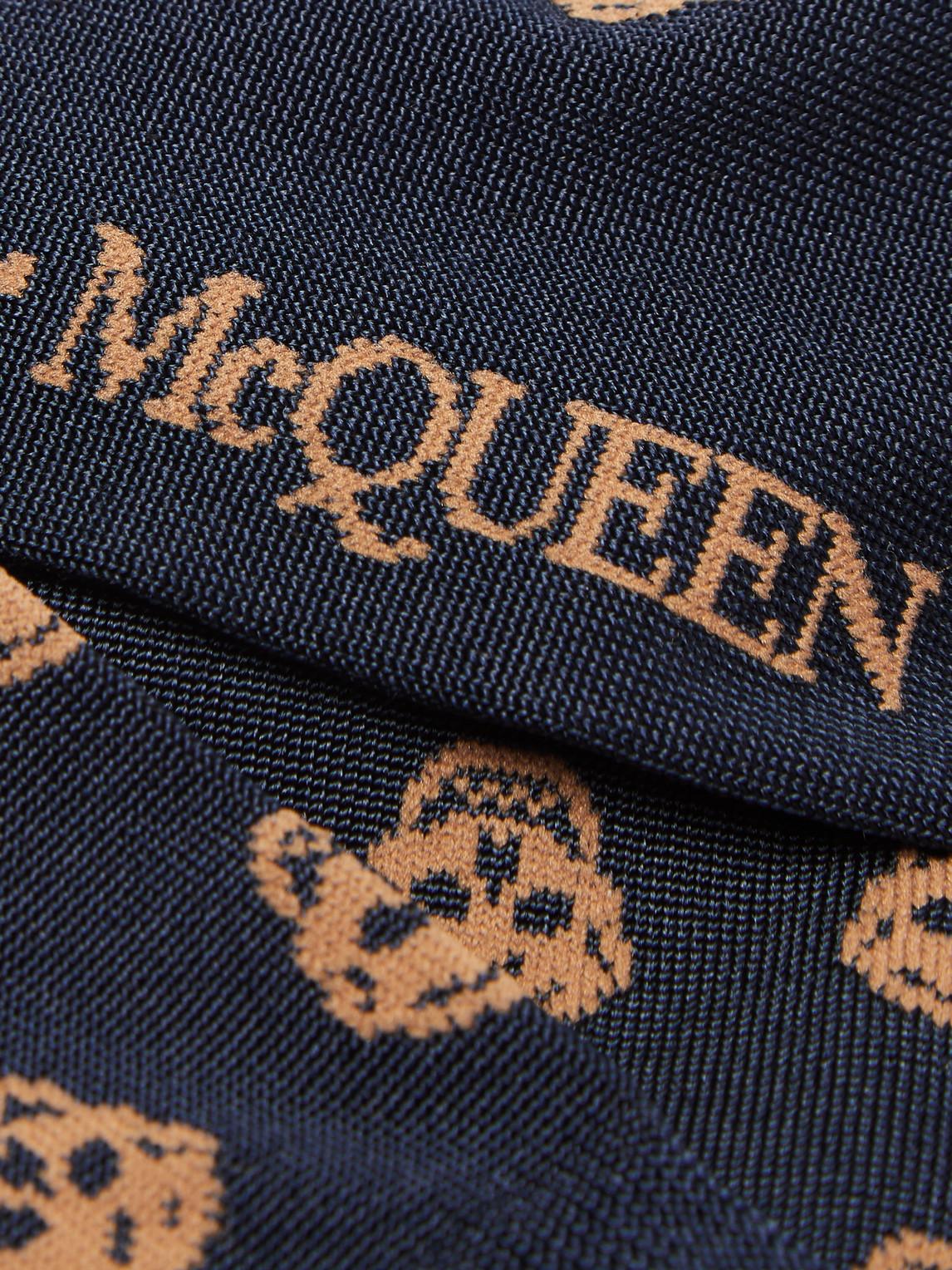 Alexander Mcqueen Socks INTARSIA STRETCH SILK-BLEND SOCKS