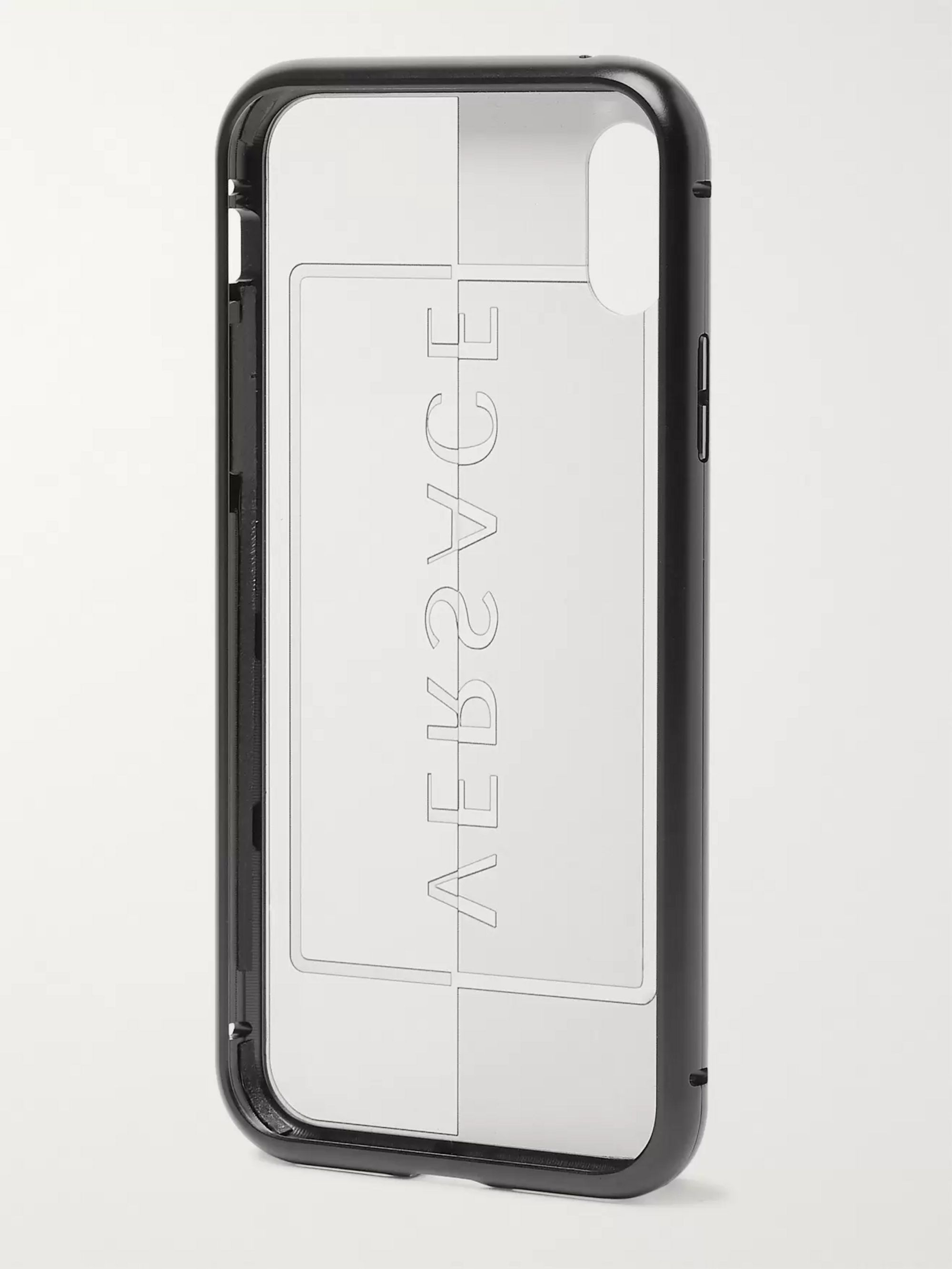 Versace Logo-Print Acetate iPhone X and XS Case
