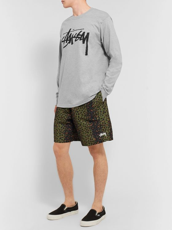 Stüssy Stock Logo-Print Cotton-Blend Jersey T-Shirt