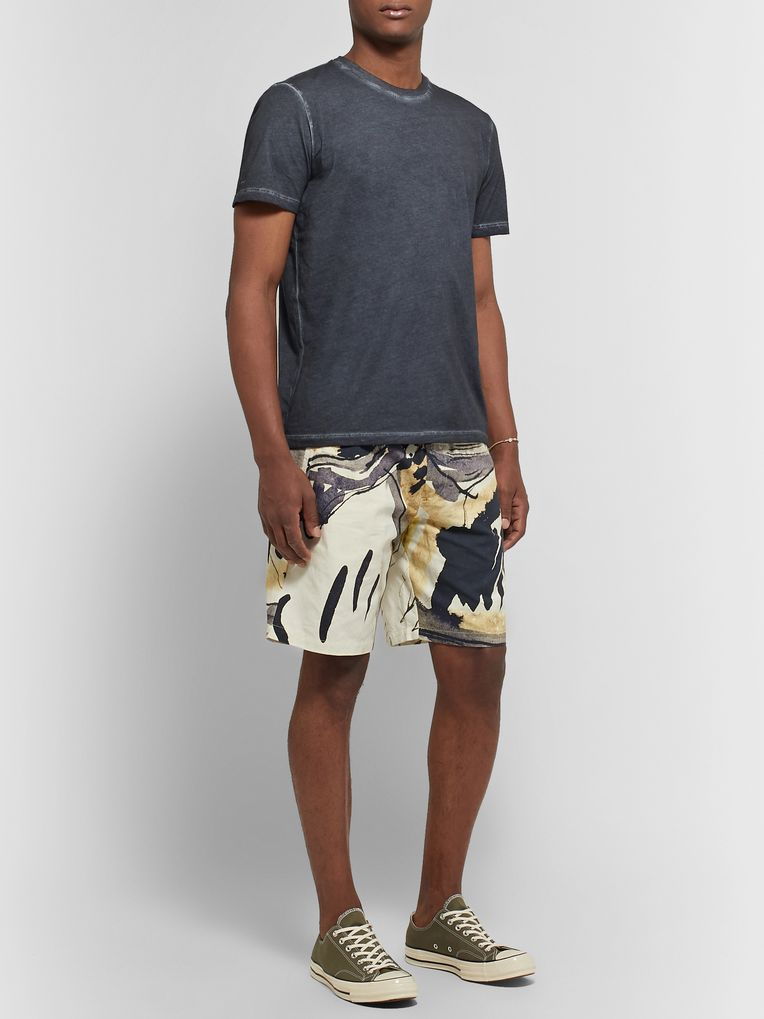 Folk + Goss Brothers Orpheus Printed Linen and Cotton-Blend Shorts