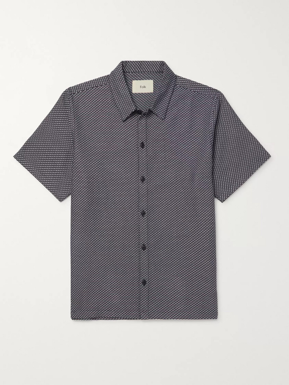 Folk Gabe Cotton-Jacquard Shirt