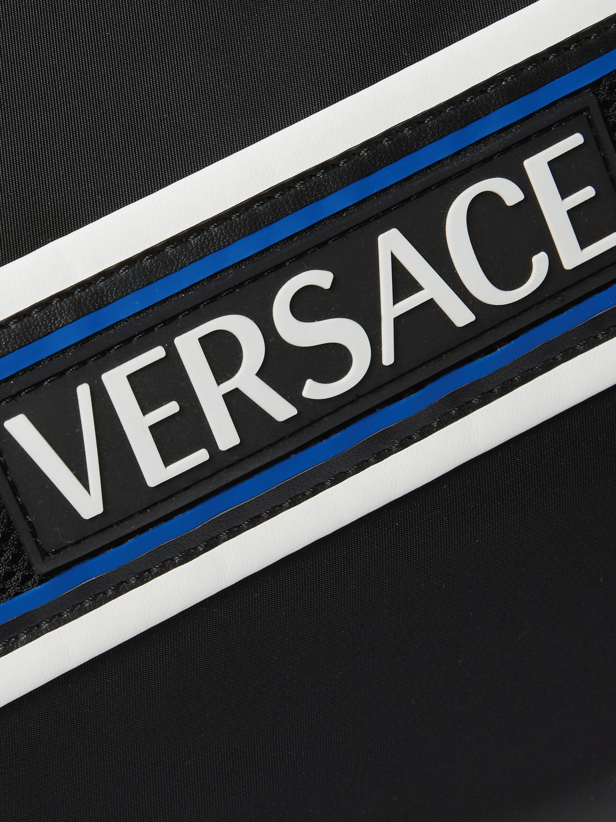 Versace Logo-Detailed Webbing-Trimmed Nylon Duffle Bag