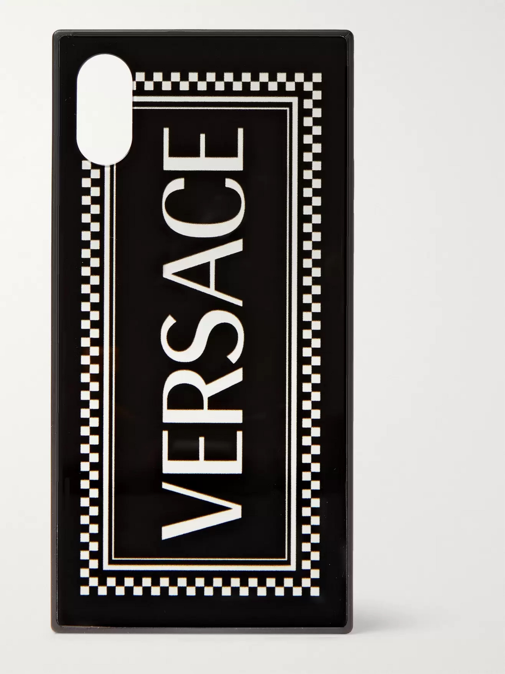 Versace Logo-Print iPhone X Case