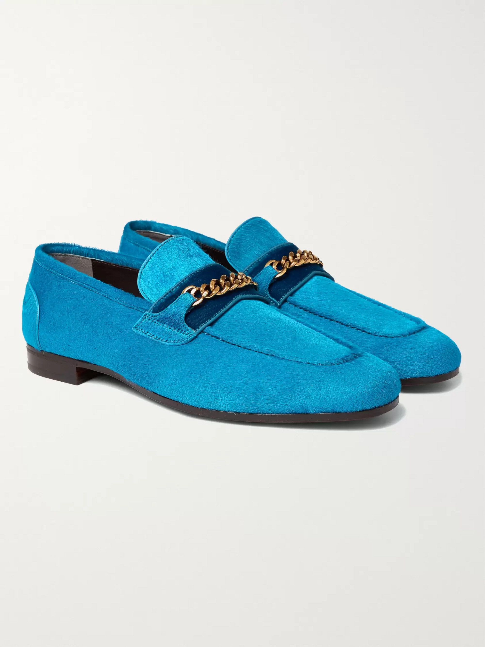 39dca2287227b Blue Wilton Chain-Embellished Calf Hair Loafers | TOM FORD | MR PORTER