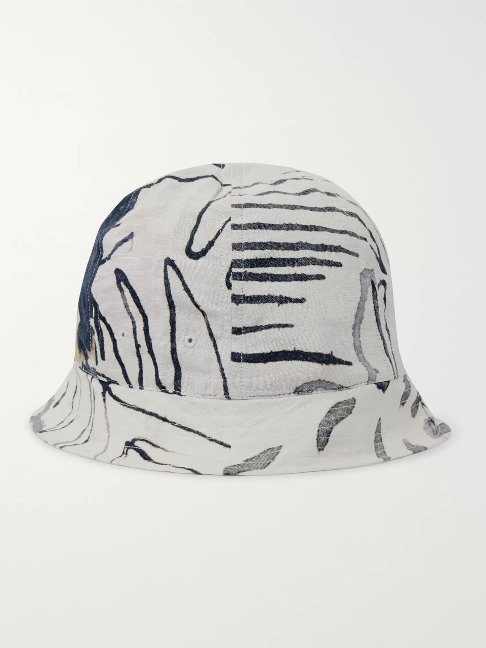 Folk + Goss Brothers Orpheus Printed Linen and Cotton-Blend Bucket Hat
