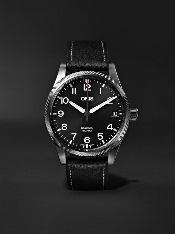 Oris Big Crown Pro Pilot Automatic 41mm Stainless Steel and Leather Watch, Ref. No. 01 751 7697 4264-07 5 20 15GFC