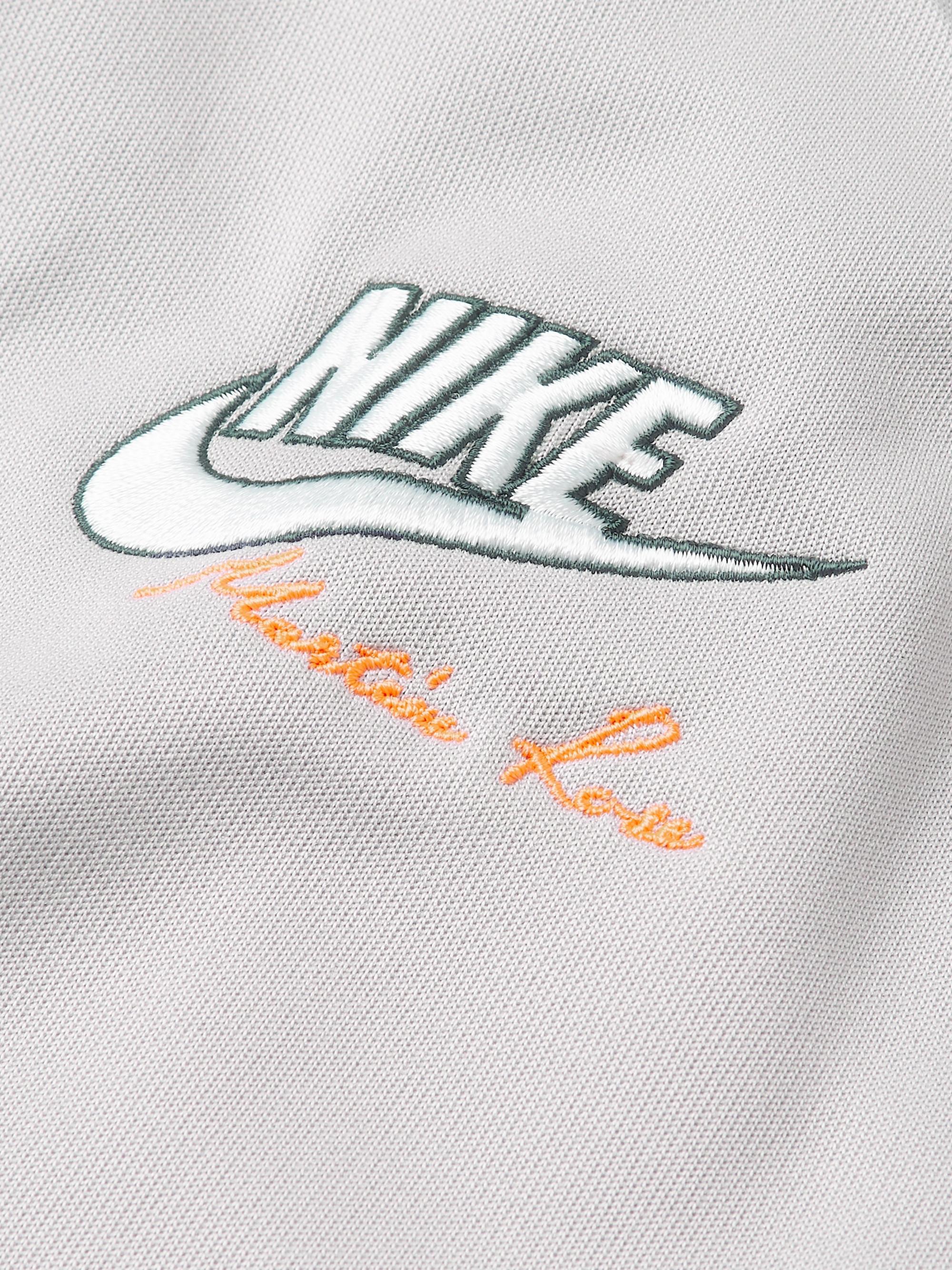 b829871cbd88 Blue + Martine Rose Colour-Block Tech-Jersey Track Jacket | Nike ...