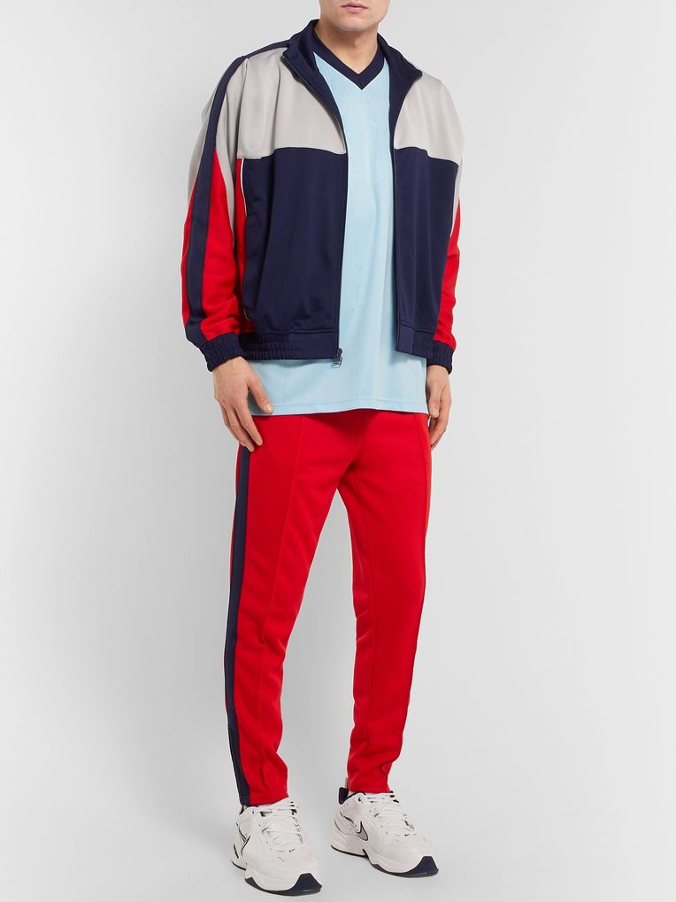 Nike + Martine Rose Colour-Block Tech-Jersey Track Jacket