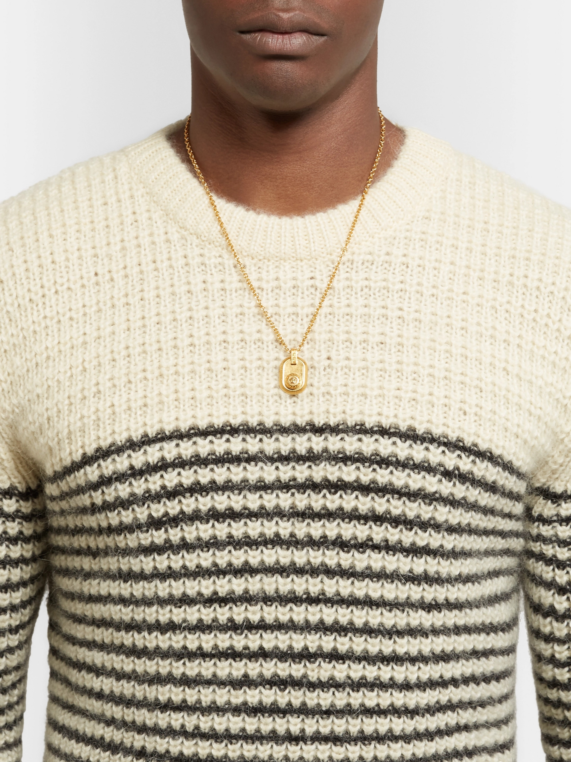 Versace Logo-Detailed Gold-Tone Necklace