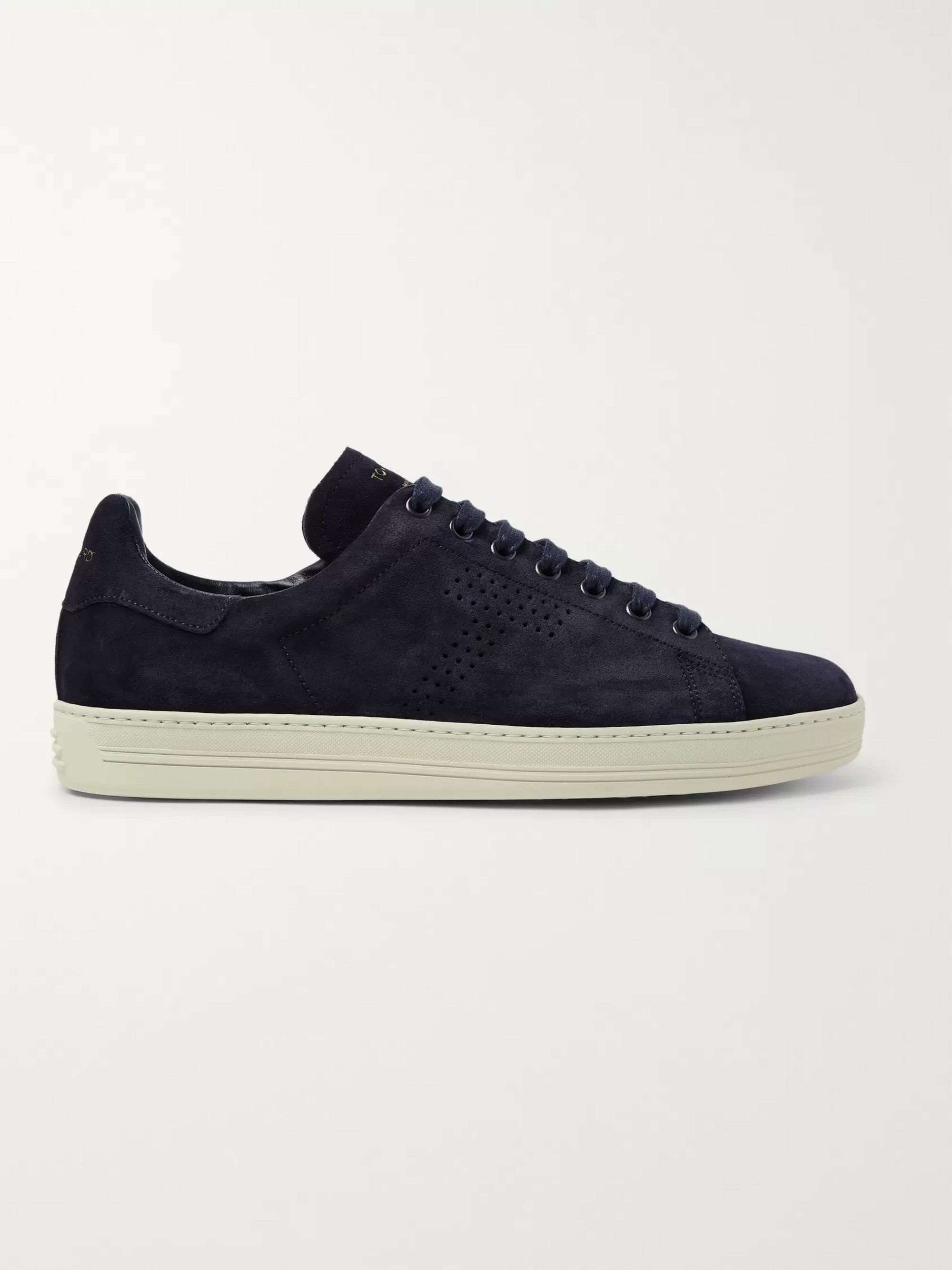TOM FORD Warwick Perforated Suede Sneakers