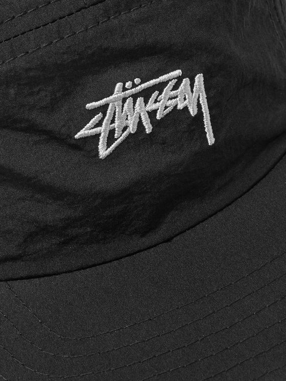 Stüssy Stock Camp Logo-Embroidered Nylon Baseball Cap