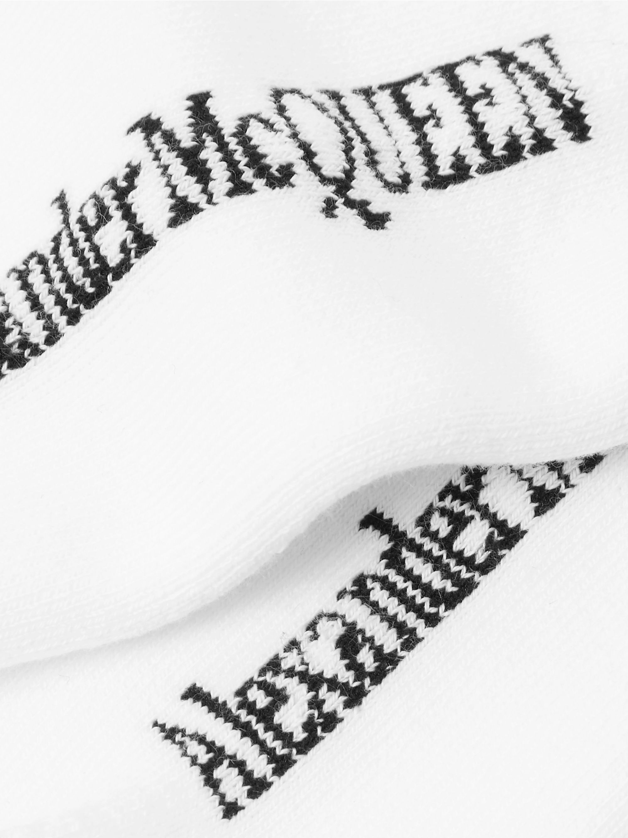 Alexander McQueen Logo-Jacquard Stretch Cotton-Blend Socks