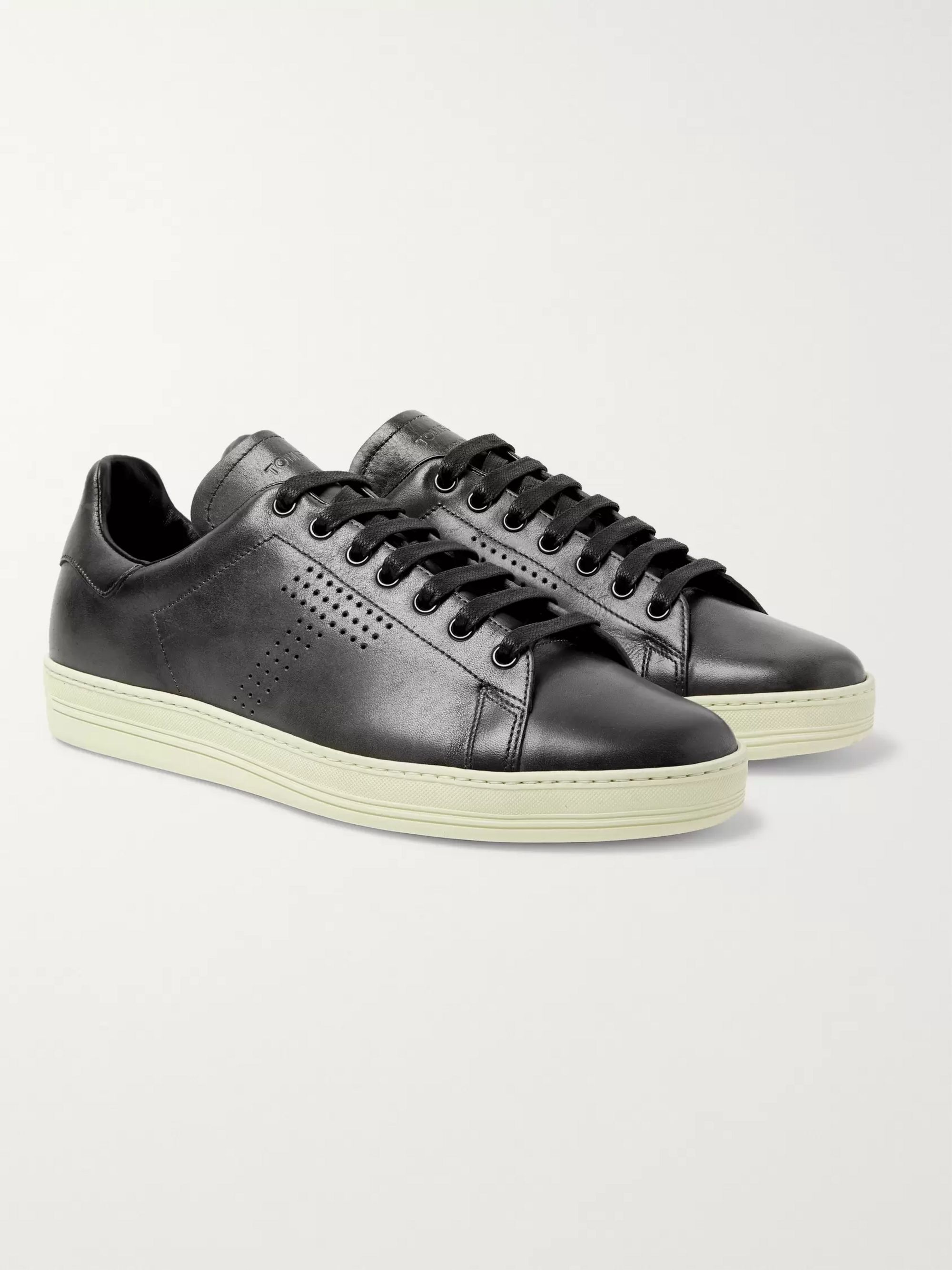 ef1d85a0 Warwick Burnished-Leather Sneakers