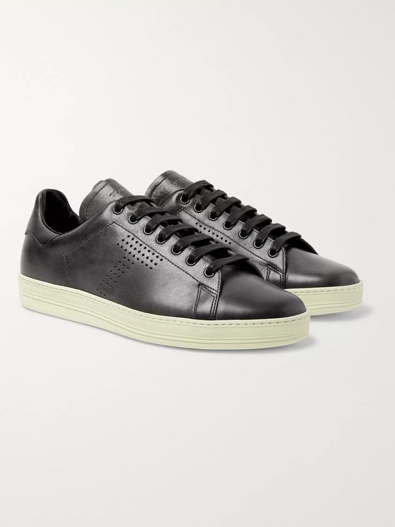 TOM FORD Warwick Perforated Leather Sneakers