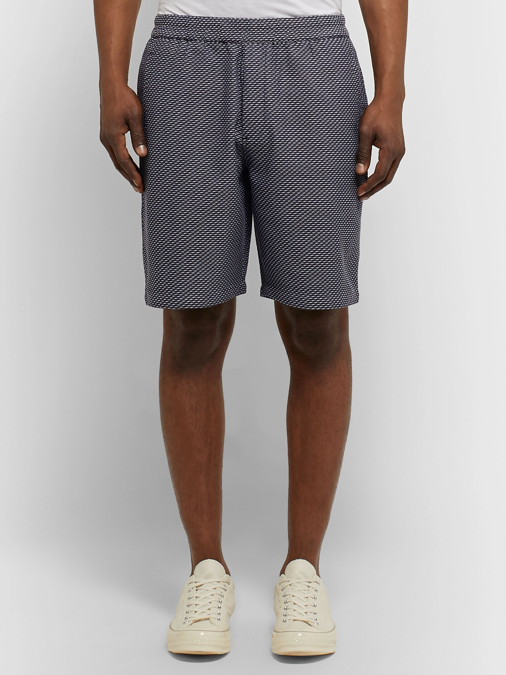 Folk Cotton-Jacquard Shorts