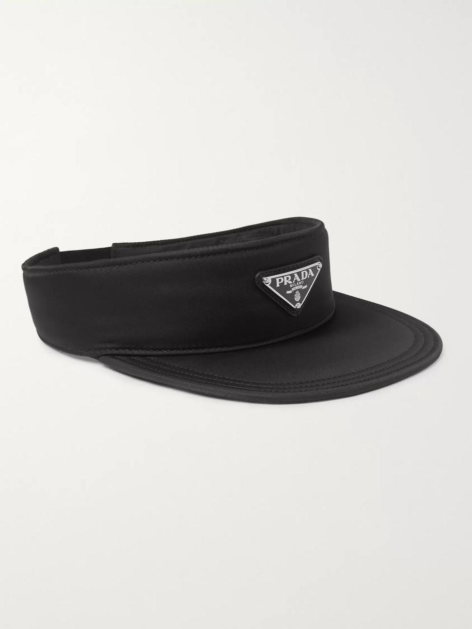 b06cf453 Black Logo-Appliquéd Nylon Visor   Prada   MR PORTER