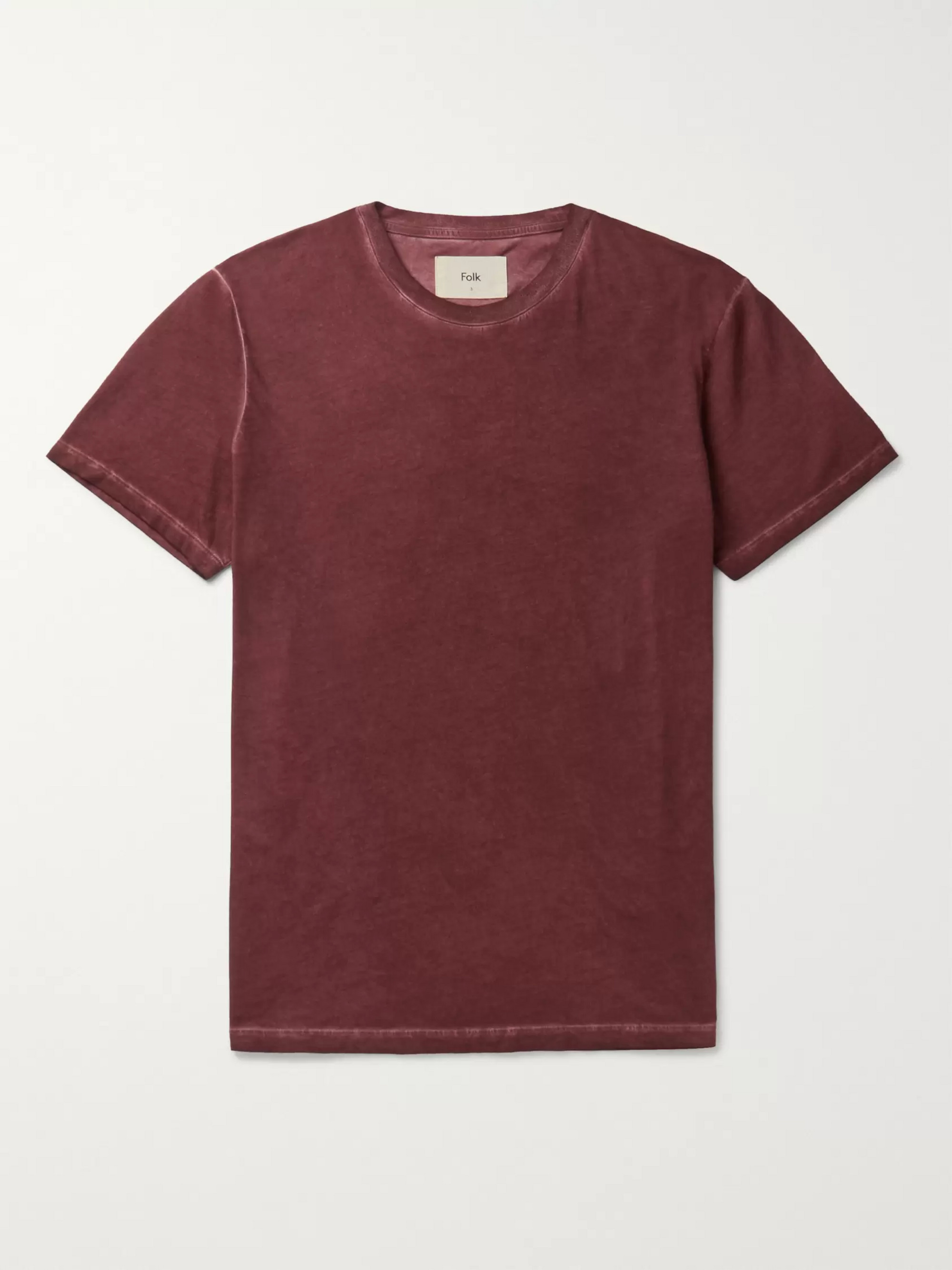 Folk Assembly Garment-Dyed Cotton-Jersey T-Shirt