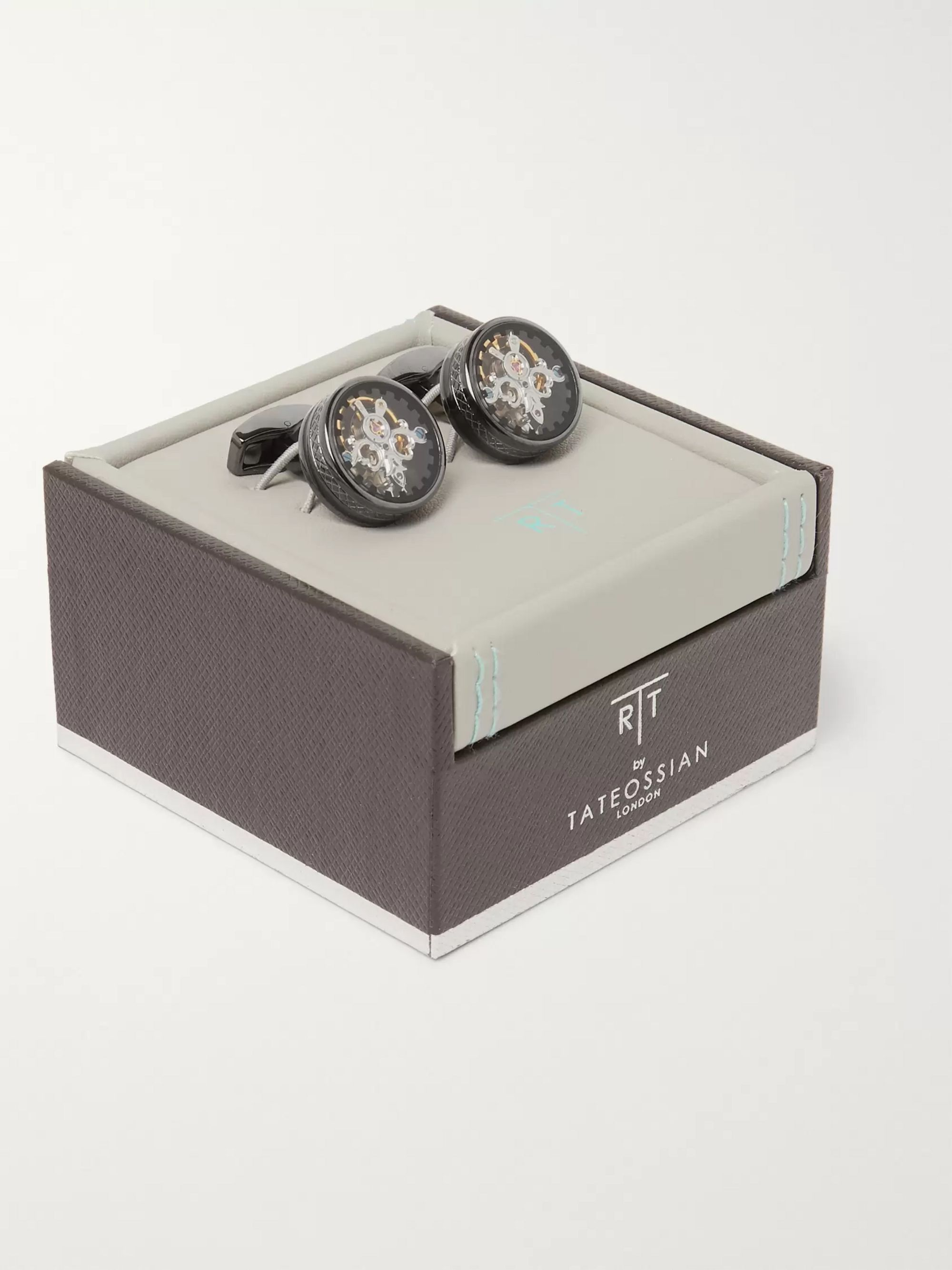 TATEOSSIAN Tourbillon Gear Gunmetal-Plated Cufflinks