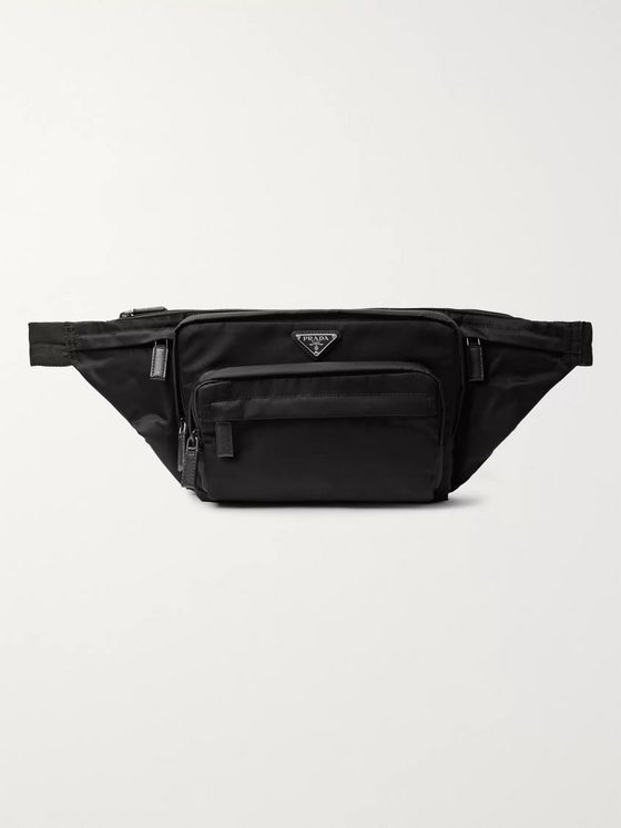 Prada Saffiano Leather-Trimmed Nylon Belt Bag